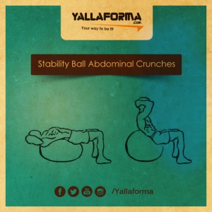 Stability Ball Abdominal Crunches