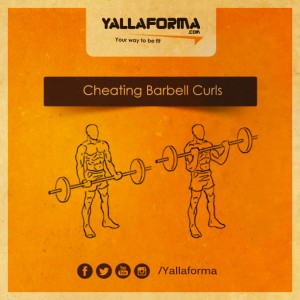 Cheating Barbell curl