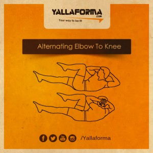 alternating elbow to knee