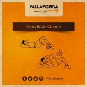 cross body crunch
