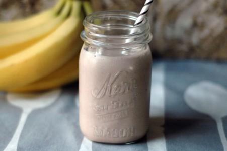 بروتين shake بزبدة الفول السودانى- موكا (خالى من اللبن)