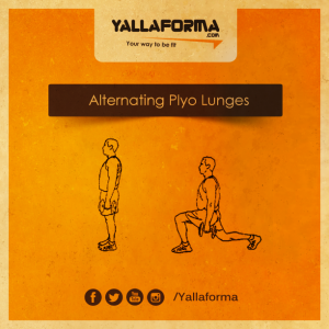 Alternating Plyto Lunges