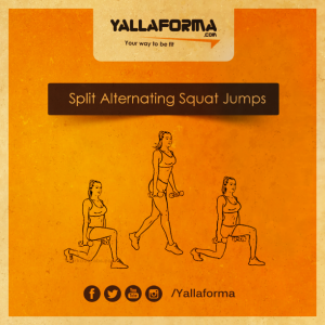 Split Alternating Squat Jumps