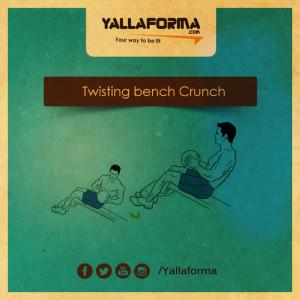 Twisting bench Crunch