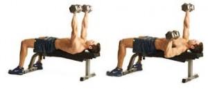 Single-Arm Flat Dumbbell Press