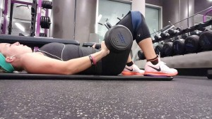 Barbell Glute Bridge with Band Abduction